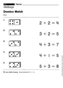Domino Match Worksheet