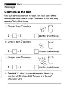 Counters in the Cup Worksheet