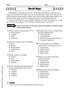 World Maps Worksheet