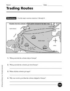 Trading Routes Worksheet