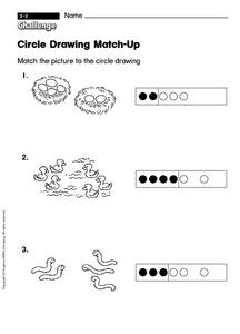 Circle Drawing Match-Up Worksheet