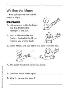 We See the Moon Worksheet