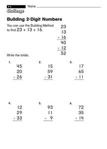 Building 2-Digit Numbers Worksheet
