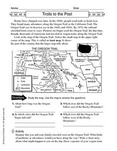 Trails to the Past: Oregon Trail Worksheet