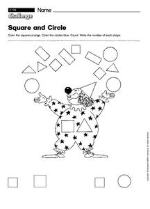 Challenge: Square and Circle Worksheet