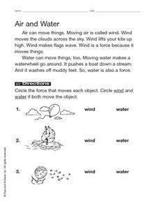 Air and Water Worksheet