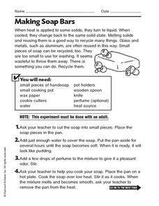 Making Soap Bars Worksheet
