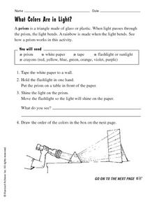 What Colors Are in Light? Worksheet