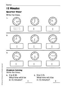 15 Minutes Worksheet