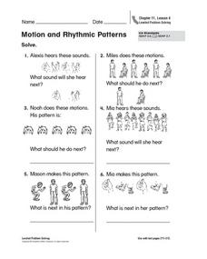 Motion and Rhythmic Patterns Worksheet