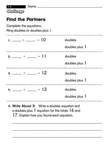 Find the Partners Worksheet