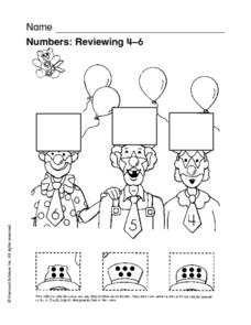 Numbers: Reviewing 4-6 Worksheet