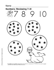 Numbers: Reviewing 7-9 Worksheet