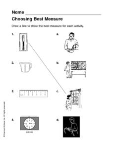 Choosing Best Measure Worksheet