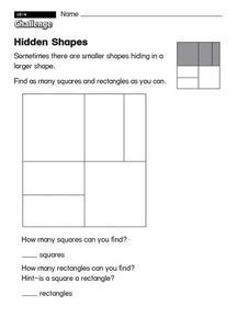 hidden shapes worksheet for 1st 2nd grade lesson planet. Black Bedroom Furniture Sets. Home Design Ideas