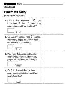 Follow the Story Worksheet