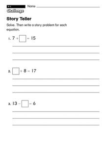 Story Teller Worksheet