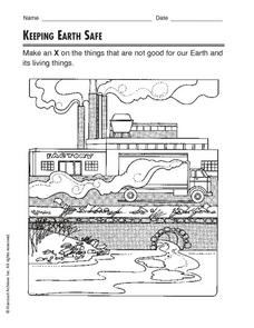 Keeping Earth Safe Worksheet
