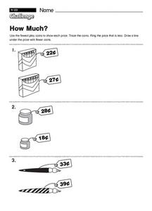 How Much?  challenge Worksheet