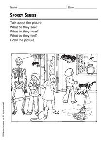 Spooky Senses Worksheet