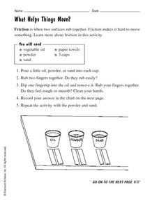 What Helps Things Move? Worksheet