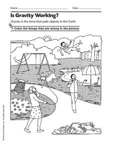 is gravity working worksheet for kindergarten 2nd grade lesson planet. Black Bedroom Furniture Sets. Home Design Ideas