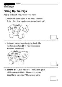 Filling Up the Pigs Worksheet