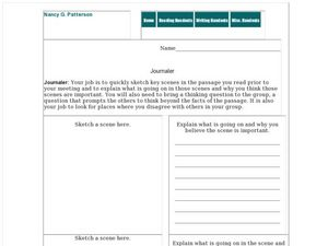 Group Journal Worksheet