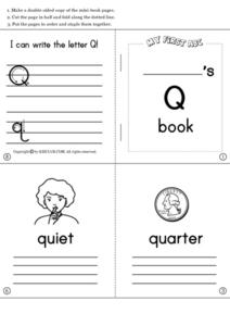 Letter Booklets: Qq to Zz Worksheet