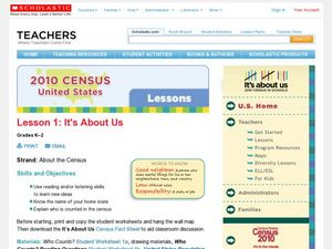 2010 Census Lesson 1:  It's About Us Lesson Plan
