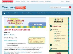 Lesson 4: A Class Census Lesson Plan