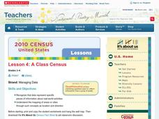 A Class Census Lesson Plan