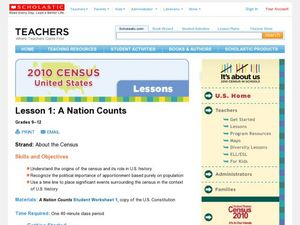 A Nation Counts Lesson Plan