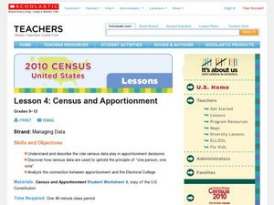 Census and Apportionment Lesson Plan