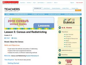 Census and Redistricting Lesson Plan