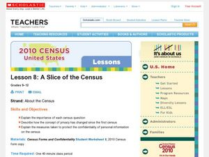 A Slice of the Census Lesson Plan