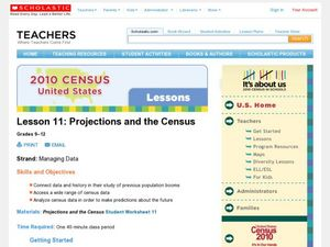 Projections and the Census Lesson Plan