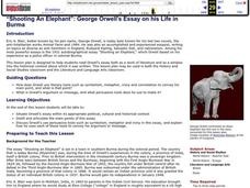 """Shooting An Elephant"": George Orwell's Essay on His Life in Burma Lesson Plan"