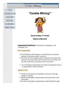 Cookie Mining Lesson Plan