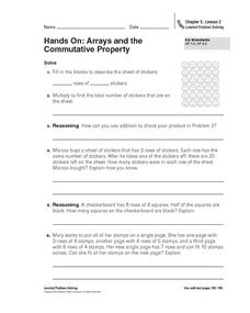 Hands On: Arrays and the Commutative Property Worksheet