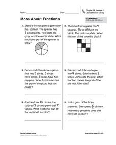 More About Fractions Worksheet