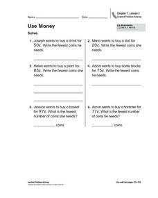 Use Money Worksheet