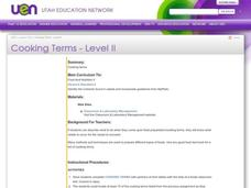 Cooking Terms Lesson Plan