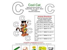 Cool Cat: The Letter C Worksheet