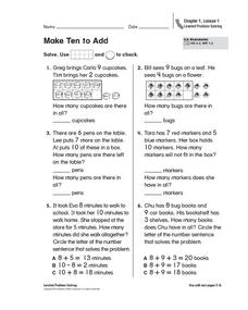 Make Ten to Add Worksheet