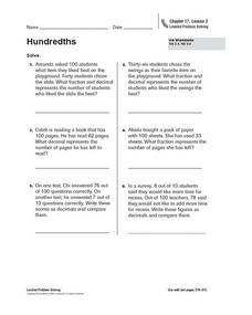 Hundredths Worksheet