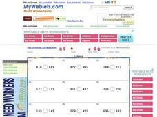 Compare Three-Digit Numbers Worksheet