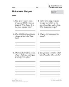 Make New Shapes Worksheet
