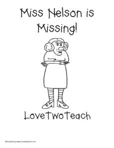 Miss Nelson is Missing! Love Two Teach Lesson Plan