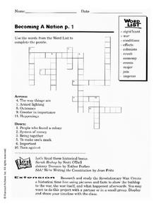 Becoming A Nation p.1 Worksheet